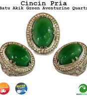 Batu Cincin Permata Green Aventurine Natural Quartz