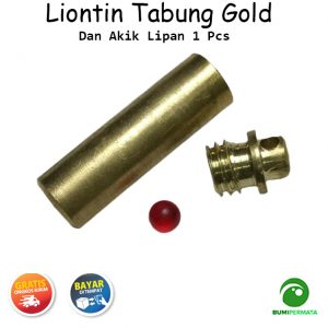 Batu Akik Lipan 1 Pcs Dan Tabung Liontin Warna Emas