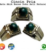 Batu Cincin Akik Bacan Doko Asli Natural Ring Alpaka Super