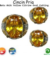 Batu Cincin Akik Yellow Citrine Obsidian