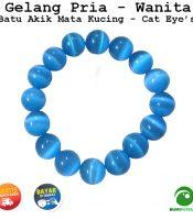 Gelang Batu Akik Mata Kucing Banyak Pilihan Warna