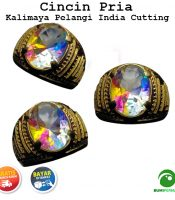 Batu Cincin Akik Kalimaya Pelangi India Cutting