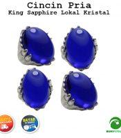 Batu Cincin Akik King Sapphire Lokal Size Jumbo