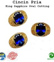 Batu Cincin Pria Royal Blue King Safir Top Quality