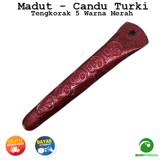 Madat Candu Turki Tengkorak 5 Warna Merah