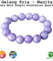 Gelang Batu Akik Purple Aventurine Quartz