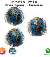 Batu Cincin Akik Pyrus Nevada Paling Murah - Natural Turquoise