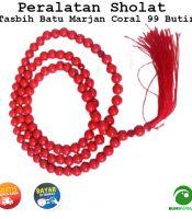 Tasbih Batu Akik Red Coral Marjan 99 Butir