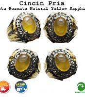 Cincin Batu Permata Natural Yellow Sapphire Corondum