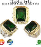 Batu Cincin Akik Green Zamrud Biron Kotak Full Cutting
