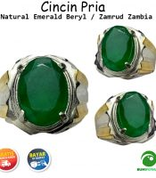 Batu Cincin Natural Emerald Beryl Zambia