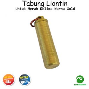 Liontin Tabung Untuk Merah Delima Warna Gold