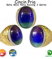 Batu Cincin Akik Mata Kucing 3 Warna Model A