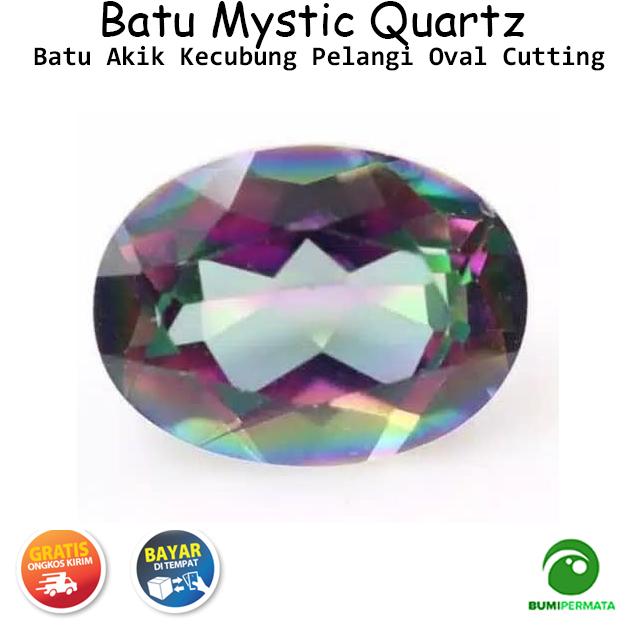Batu Permata Rainbow Mystic Quartz Kecubung Pelangi