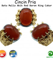 Cincin Batu Akik Red Baron Ring Cakar