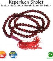 Tasbih Batu Akik Merah Siam 99 Butir