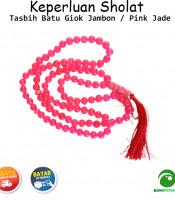 Tasbih Batu Akik Giok Jambon Pink Jade 99 Butir