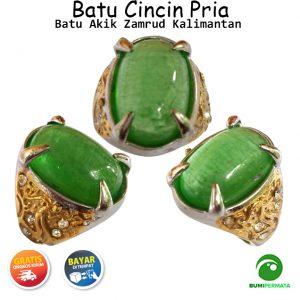 Batu Cincin Akik Mulia Zamrud Kalimantan