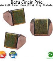 Batu Cincin Akik Badar Emas Kotak Spesial Untukmu