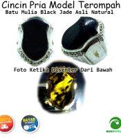 Cincin Terompah Batu Mulia Black Jade