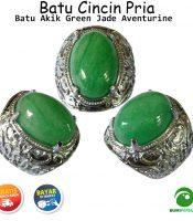 Batu Cincin Mulia Green Jade Aventurine Quartz