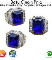 Batu Cincin Akik King Sapphire Biru Kotak Full Cutting