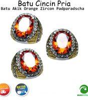 Batu Cincin Akik Orange Zircon Padparadscha