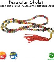 Tasbih Batu Akik Multi Warna Natural 99 Butir