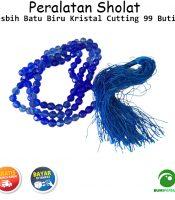 Tasbih Batu Biru Kristal Cutting 99 Butir