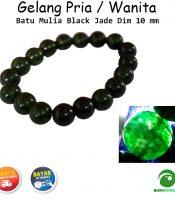 Gelang Batu Mulia Black Jade Paling Laris Dim 10mm