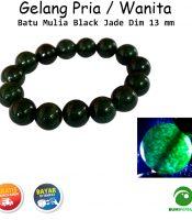 Gelang Batu Mulia Black Jade Paling Laris Dim 13mm