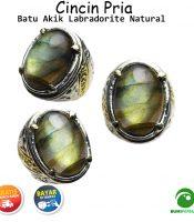 Batu Cincin Akik Labradorite Asli Natural