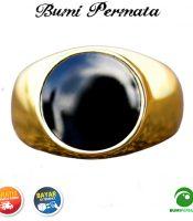 Cincin Gold Stainless Steel Super Batu Enamel Keren Mewah