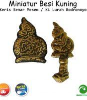 Miniatur Kuningan Model Wayang Bodronoyo Tebal