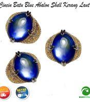 Batu Cincin Akik Blue Abalon Shell Kerang Laut