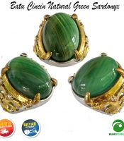 Batu Cincin Akik Natural Green Sardonyx