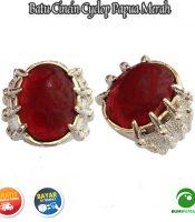 Batu Cincin Akik Cyclop Papua Warna Merah