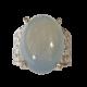 Batu Cincin Akik Kalsedon Biru Muda Unik Antik