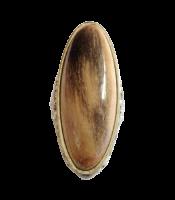 Cincin Batu Akik Fosil Kayu Galih Kelor Model Lonjong