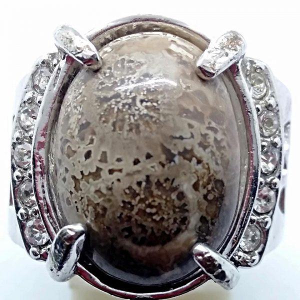 Cincin Batu Akik Kembang Saruta RS531
