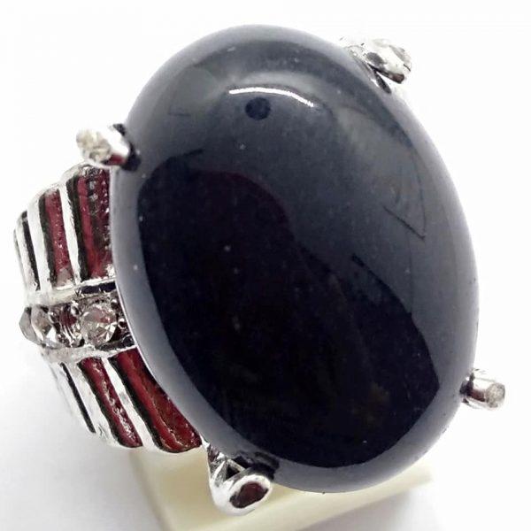 Cincin Batu Akik Bratasena Ireng RS530