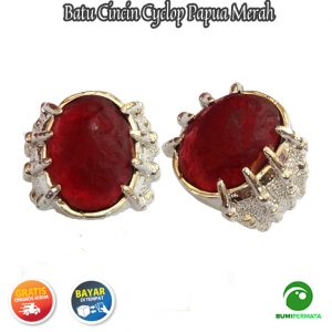 Batu Cincin Akik Cyclop Papua Warna Merah 1