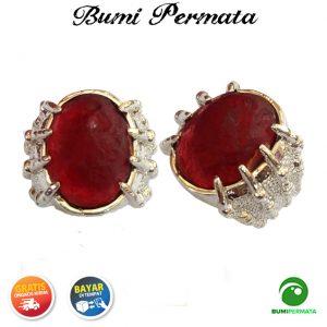 Batu Cincin Akik Cyclop Papua Warna Merah 2