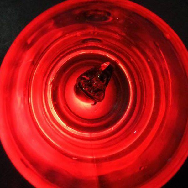 Batu Cincin Akik Fosfor Air Merah Delima Nyala Dalam Air