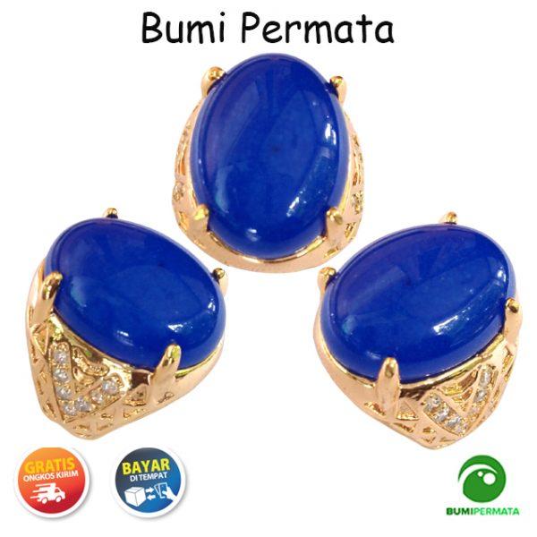 Batu Cincin Akik Giok Biru Asli Blue Jade Natural 1