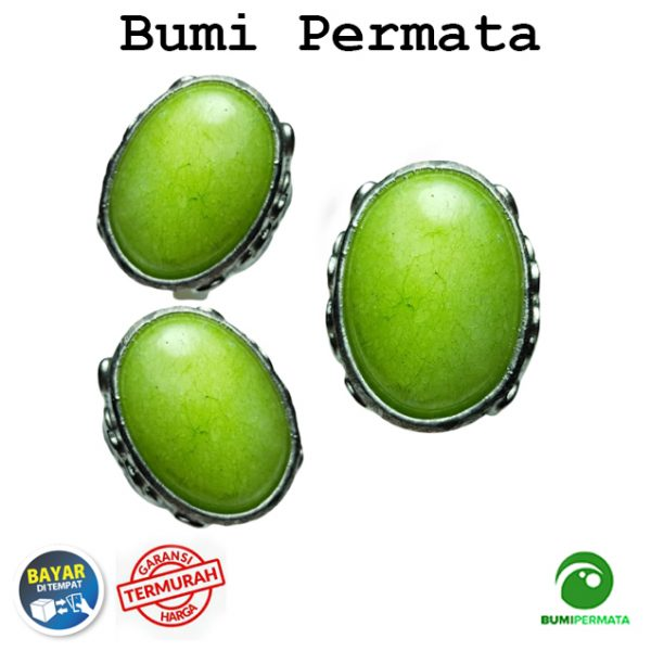 Batu Cincin Akik Giok Hijau Melon Aventurine 1