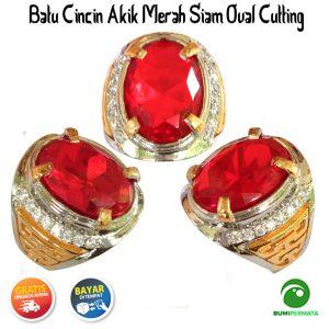 Batu Cincin Akik Merah Siam Termurah – Oval Cutting