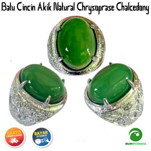 Batu Cincin Akik Natural Chrysoprase Chalcedony 1
