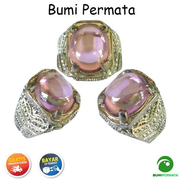Batu Cincin Akik Pink Diamond Oval Cabochon 1