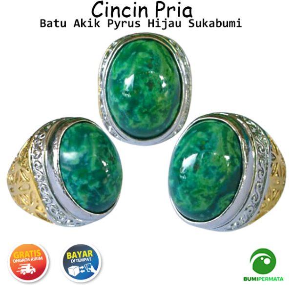 Batu Cincin Akik Pyrus Hijau Sukabumi